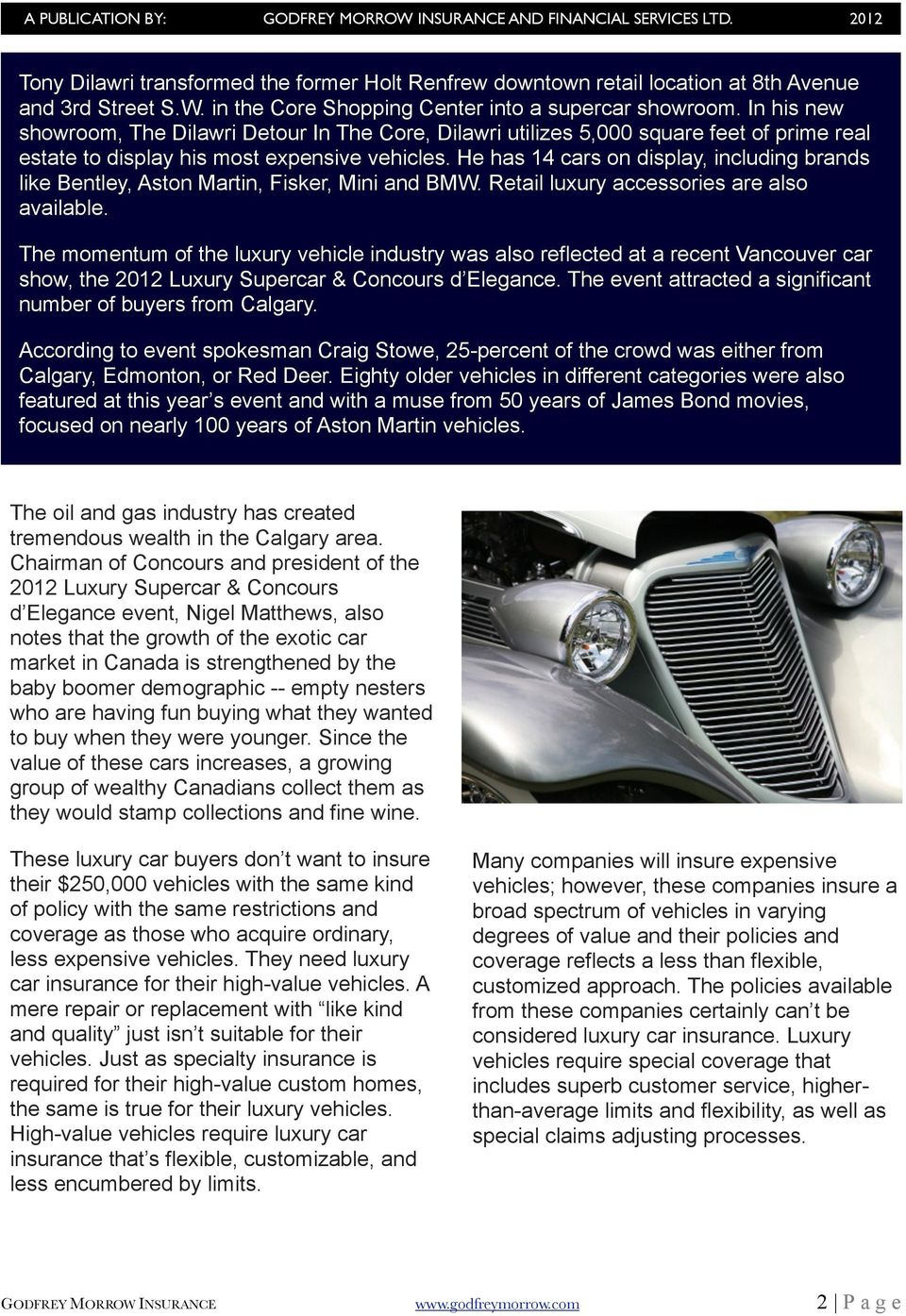 Why High Value Vehicles NEED Luxury Car Insurance PDF - Car show insurance coverage