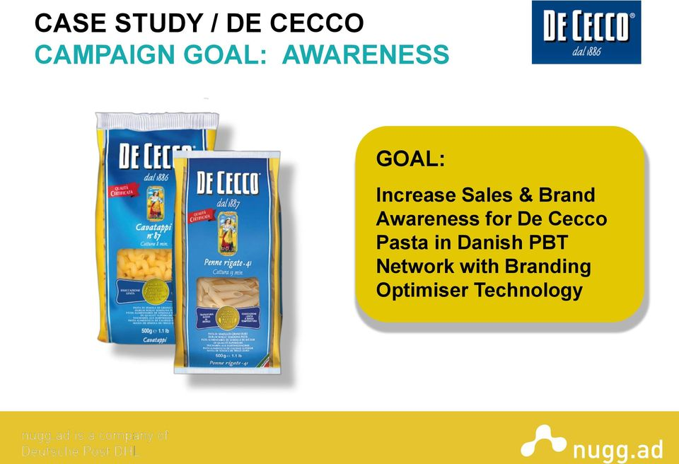Awareness for De Cecco Pasta in Danish