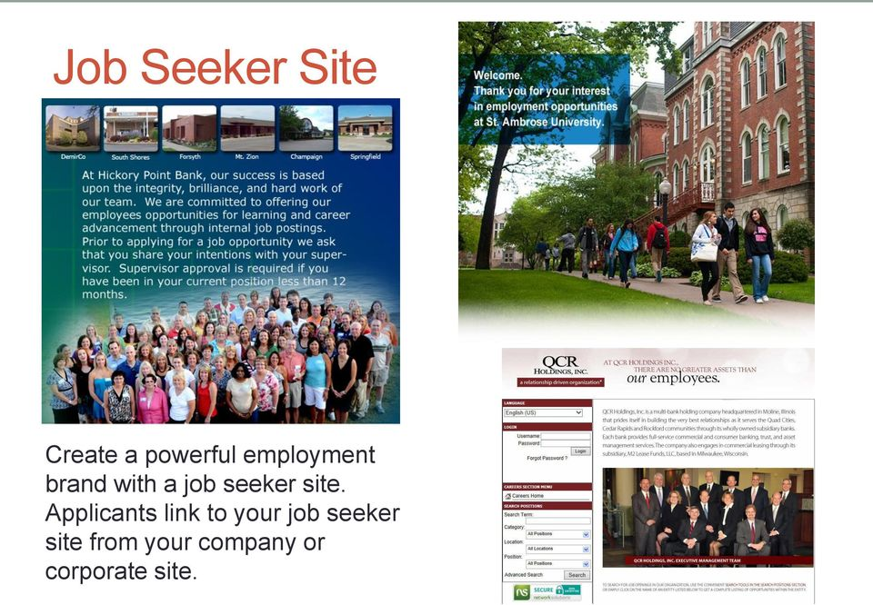 site. Applicants link to your job
