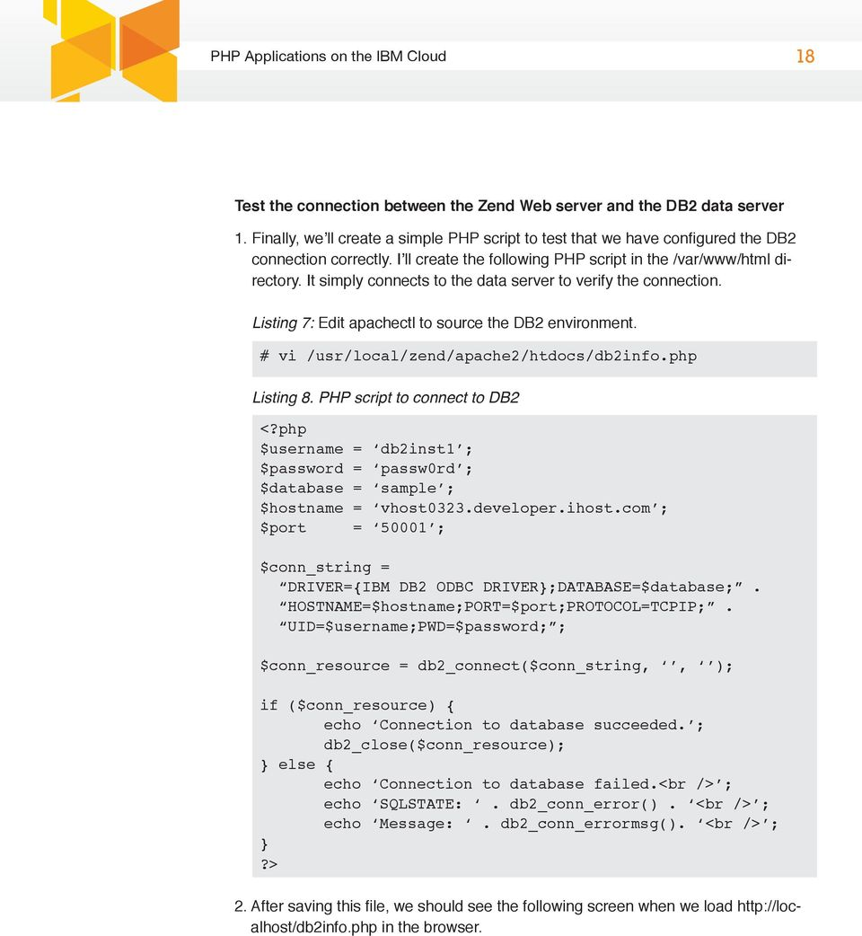 Develop and Test Your PHP Applications on the IBM cloud - PDF
