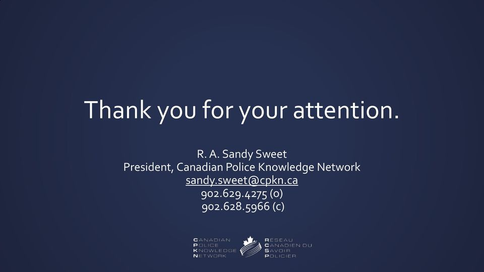 Police Knowledge Network sandy.