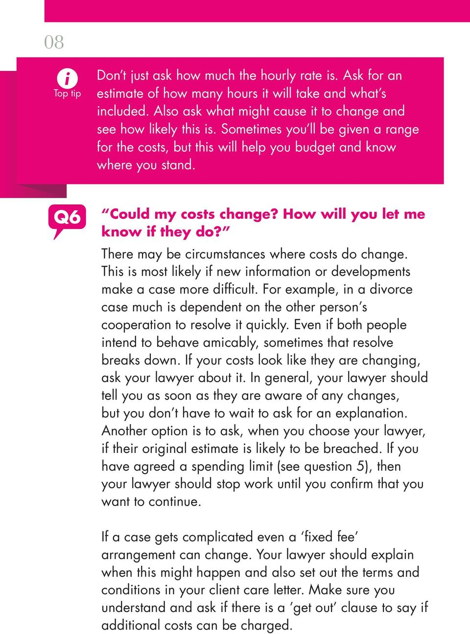 Ten questions to ask your lawyer about costs - PDF