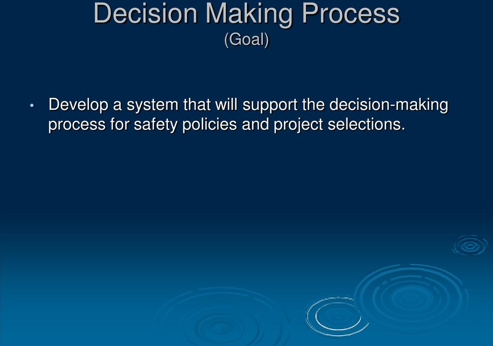 the decision-making process for