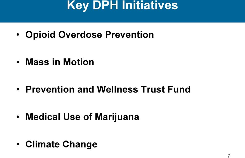 Prevention and Wellness Trust Fund
