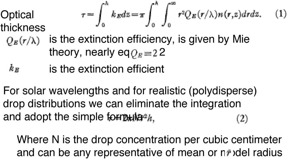 distributions we can eliminate the integration and adopt the simple formula Where N is the