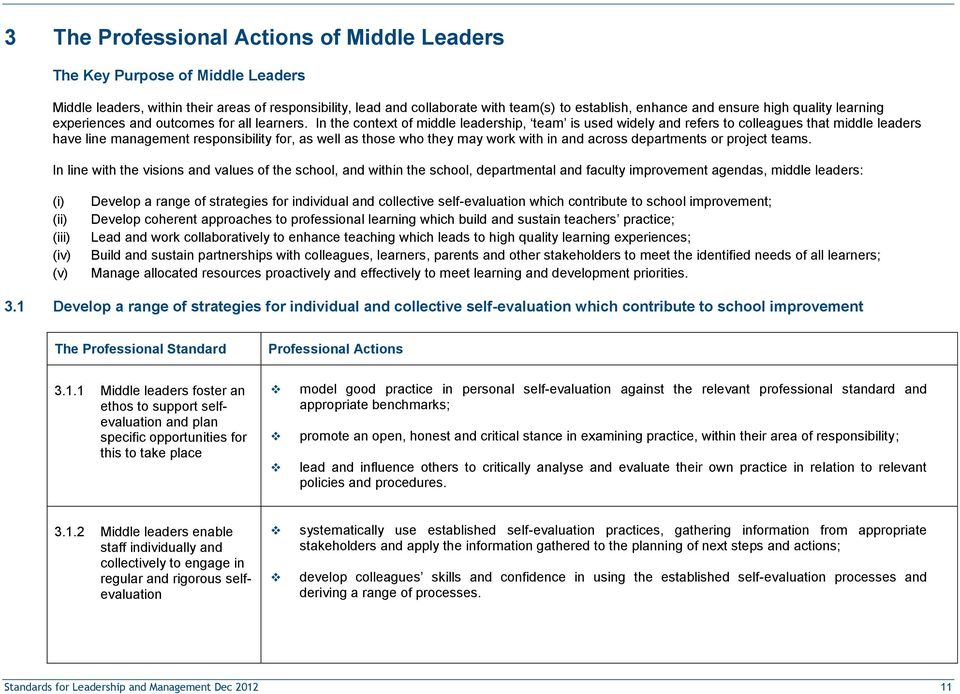 In the context of middle leadership, team is used widely and refers to colleagues that middle leaders have line management responsibility for, as well as those who they may work with in and across