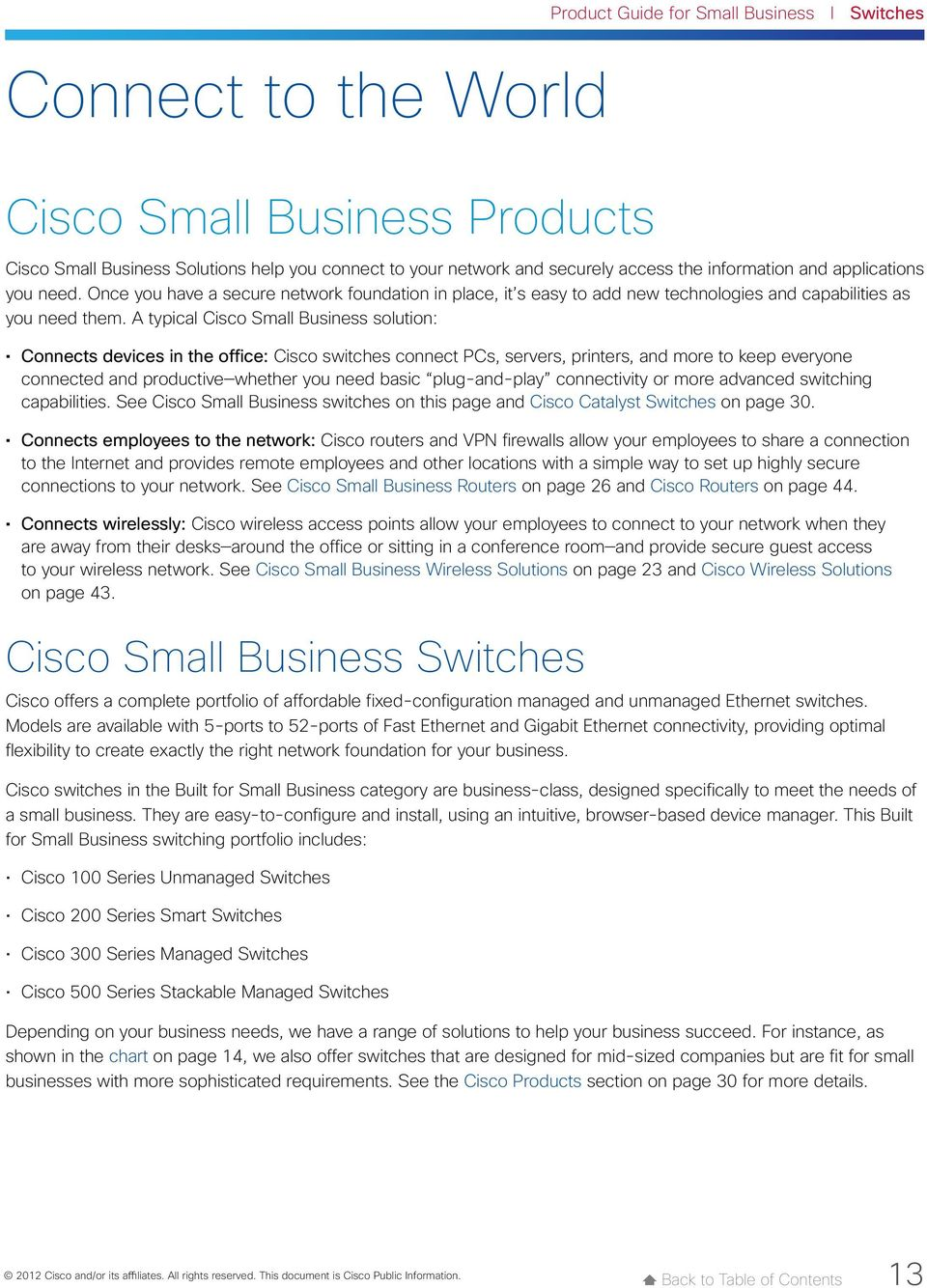 For Small Business December Pdf 8p Switches Cisco Support Community A Typical Solution Connects Devices In The Office Connect