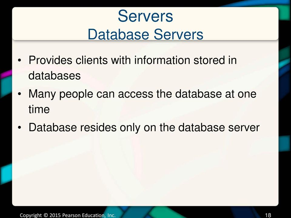 databases Many people can access the