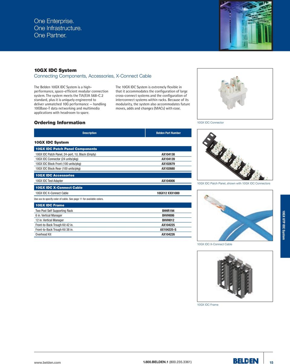 Belden Copper Catalog One Enterprise Infrastructure Wesco Telephone Wiring Diagram 2 Standard Plus It Is Uniquely Engineered To Deliver Unmatched 10g Performance Handling 10gbase