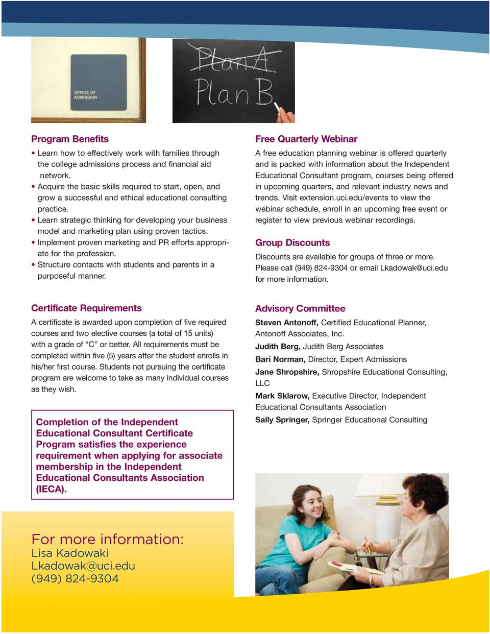 Independent Educational Consultant Certificate Program - PDF