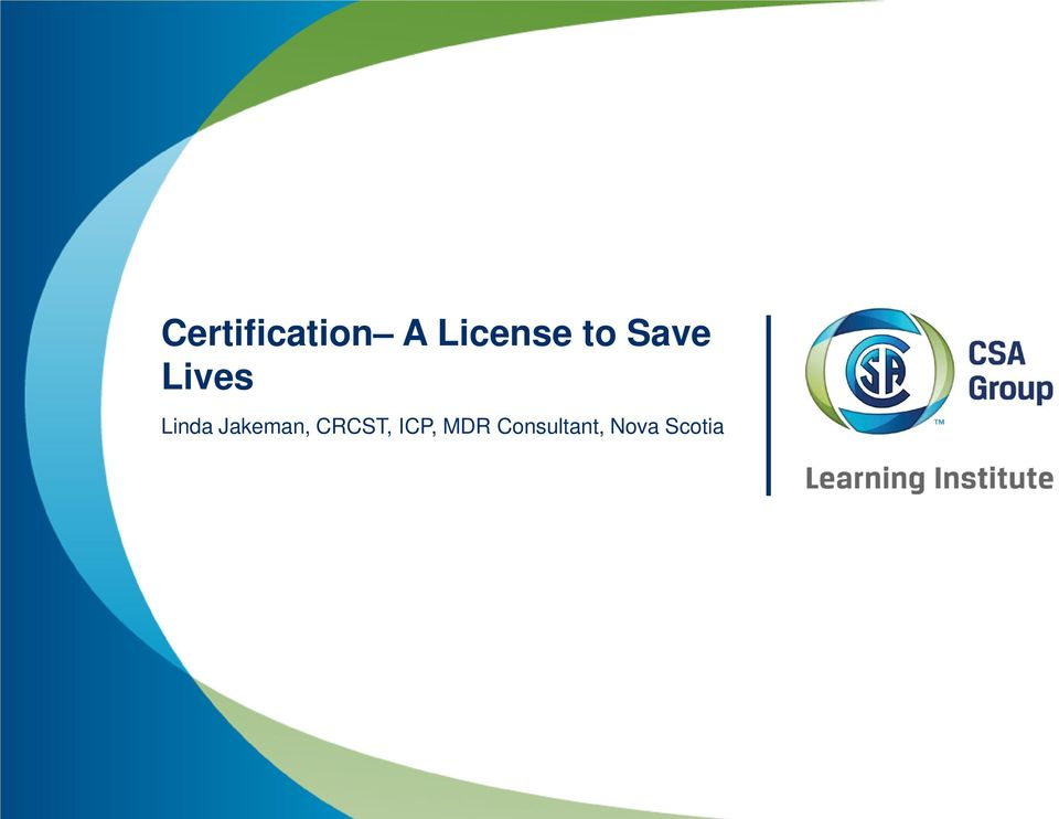 Certification A License to Save Lives - PDF