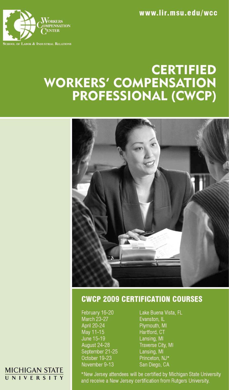 Certified Workers Compensation Cwcp 2009 Certification Courses