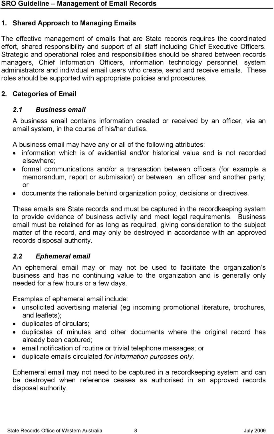 Management of Records - PDF