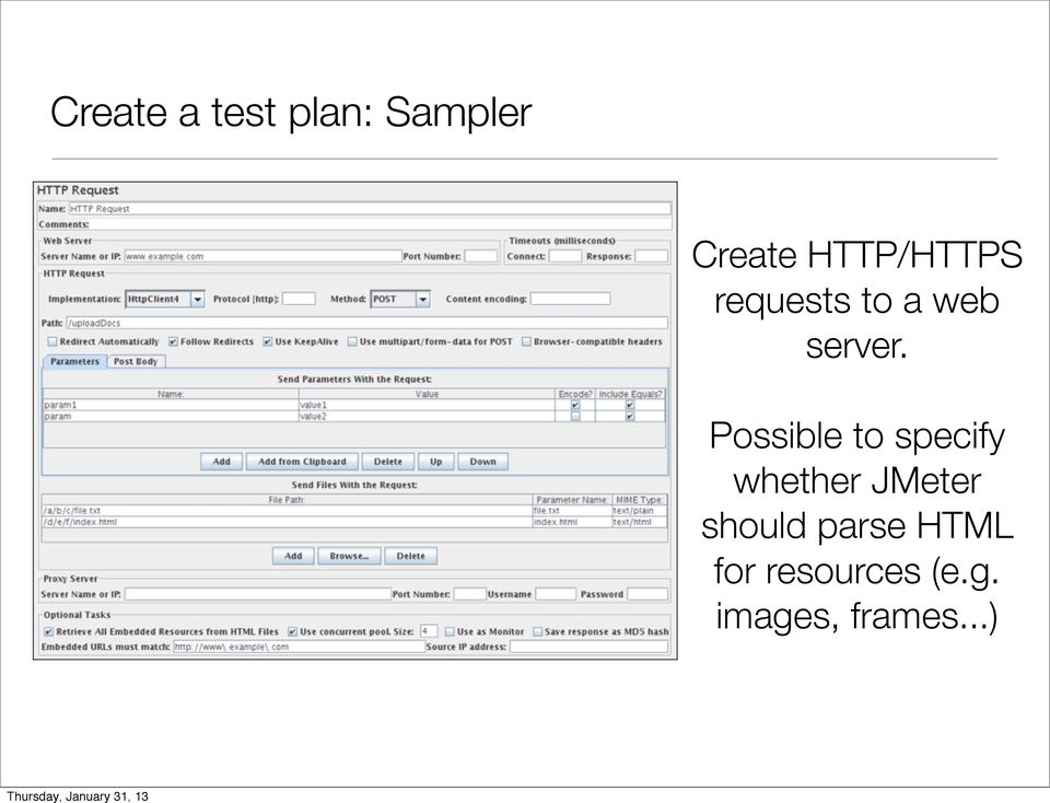 Possible to specify whether JMeter