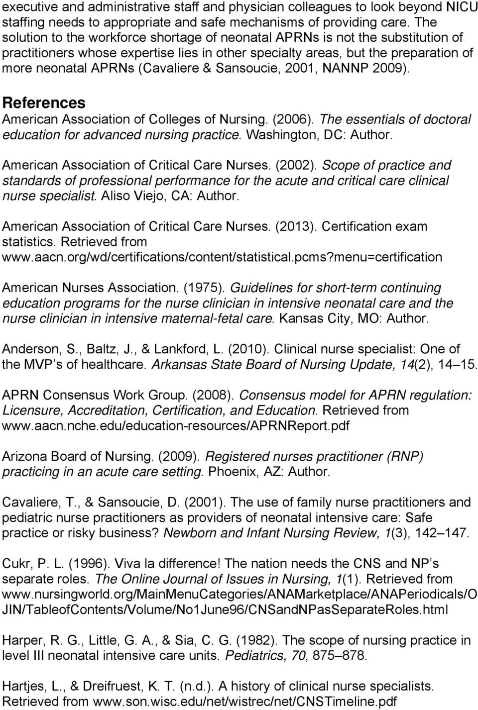 Advanced Practice Registered Nurse Role Preparation And Scope Of