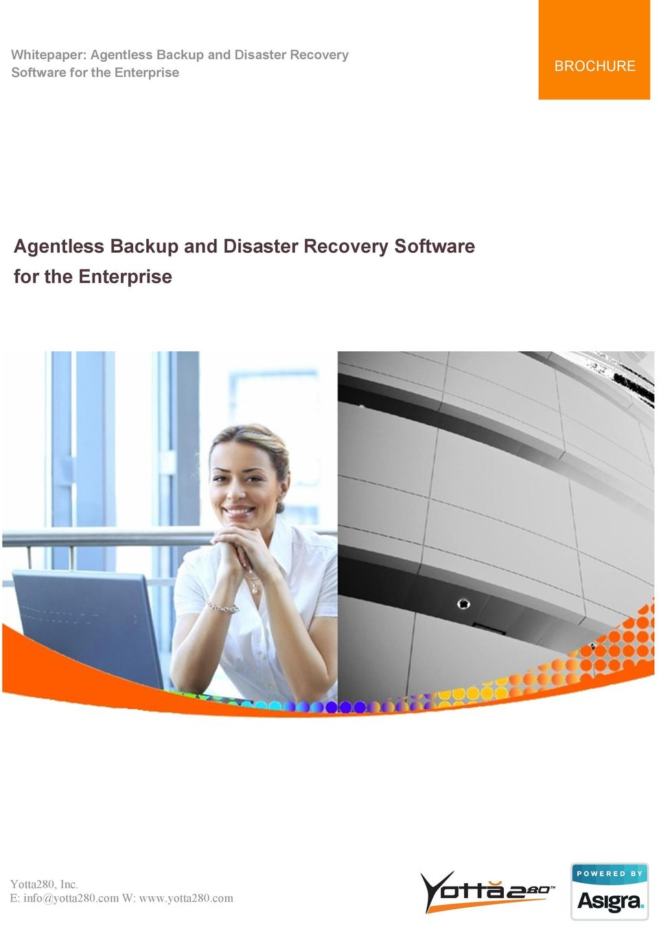 Enterprise BROCHURE Agentless Backup