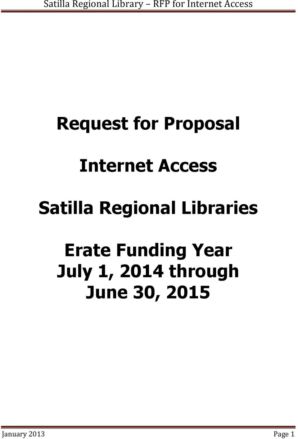 Erate Funding Year July 1, 2014
