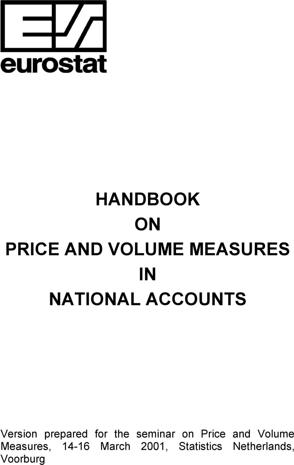 seminar on Price and Volume Measures,