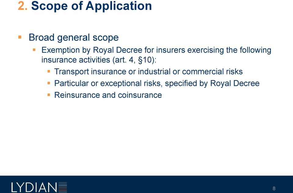 4, 10): Transport insurance or industrial or commercial risks