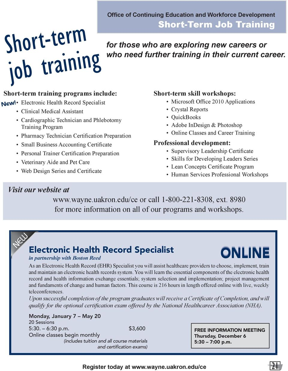 Short Term Job Training Pdf