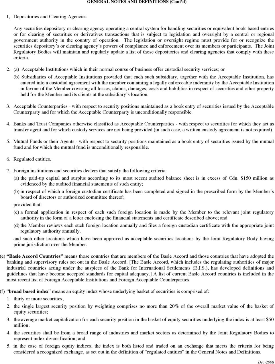 JOINT REGULATORY FINANCIAL QUESTIONNAIRE AND REPORT TABLE OF