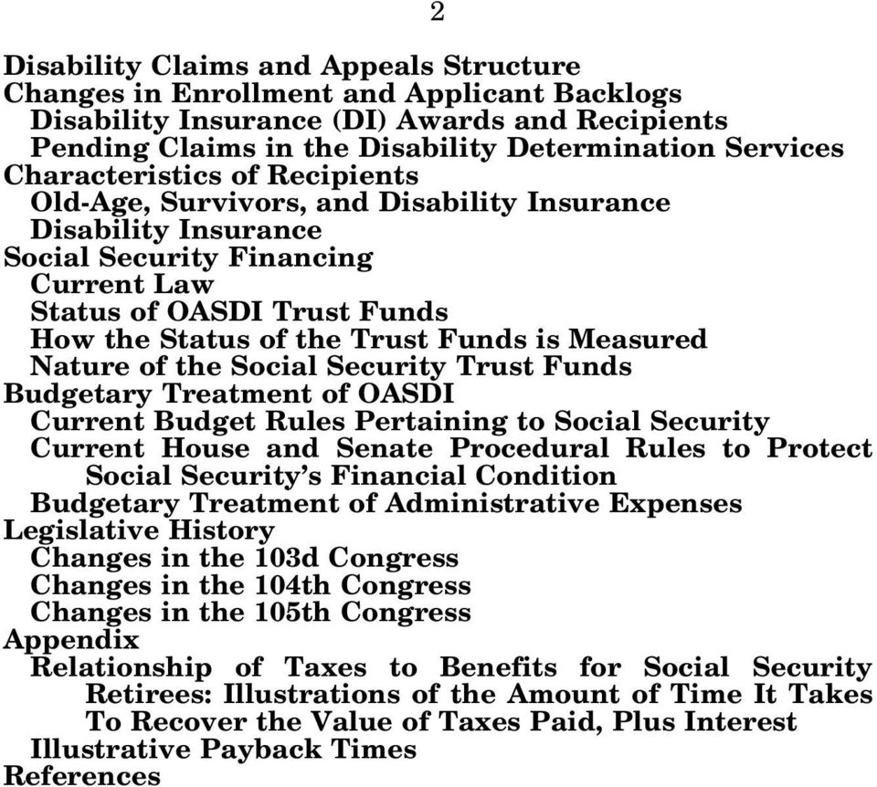 Measured Nature of the Social Security Trust Funds Budgetary Treatment of OASDI Current Budget Rules Pertaining to Social Security Current House and Senate Procedural Rules to Protect Social Security