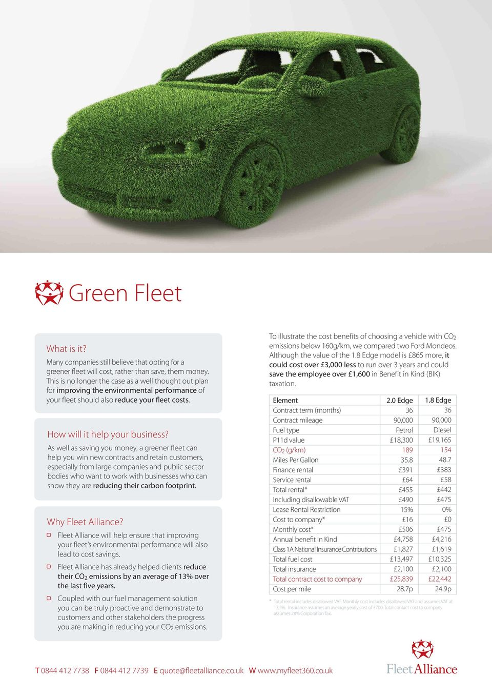 As well as saving you money, a greener fleet can help you win new contracts and retain customers, especially from large companies and public sector bodies who want to work with businesses who can