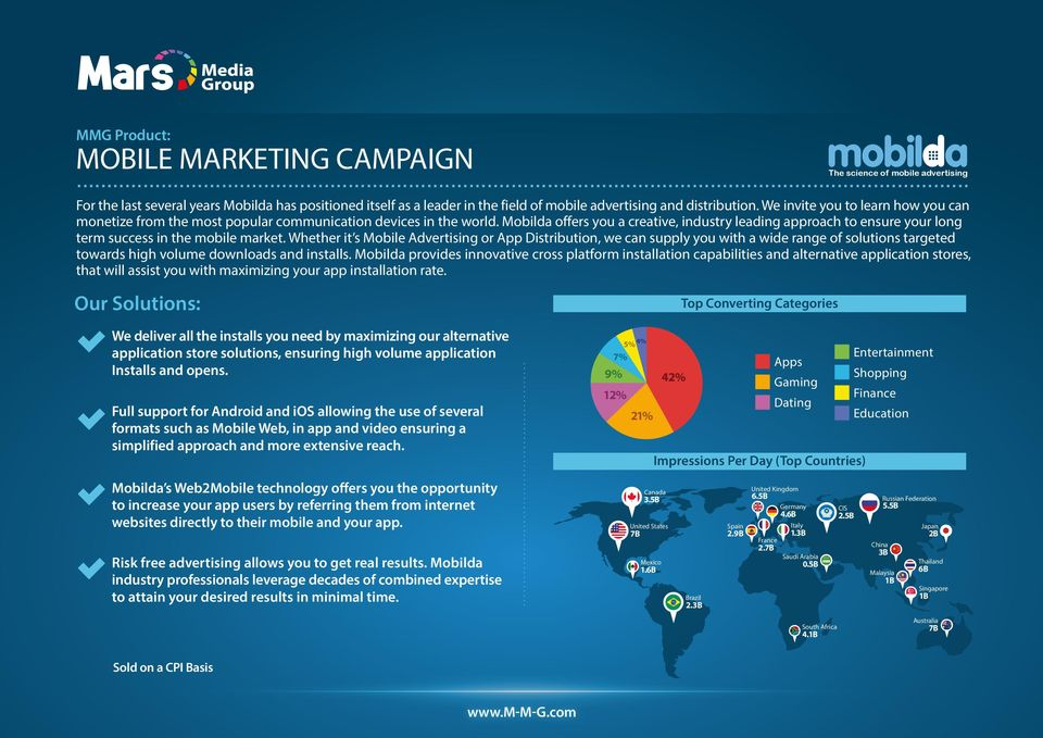 Mobilda offers you a creative, industry leading approach to ensure your long term success in the mobile market.