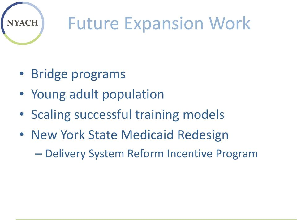 training models New York State Medicaid