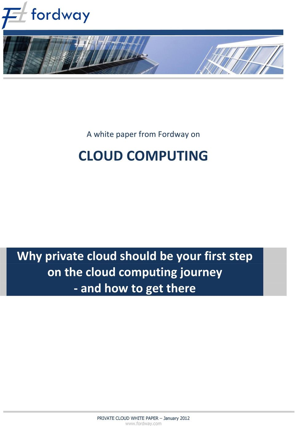 cloud computing journey - and how to get there