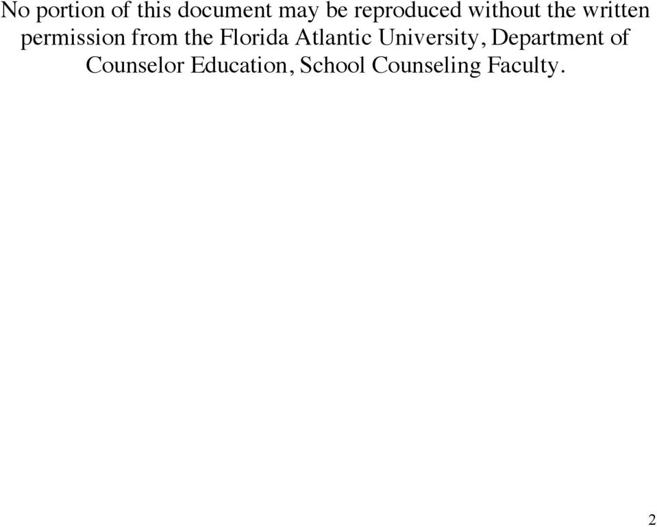 from the Florida Atlantic University,