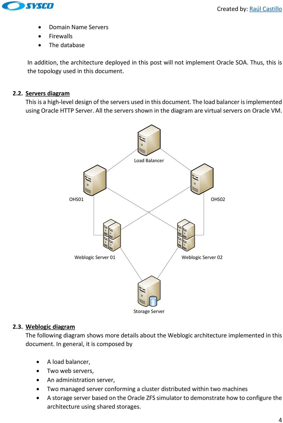 Implementing a Weblogic Architecture with High Availability