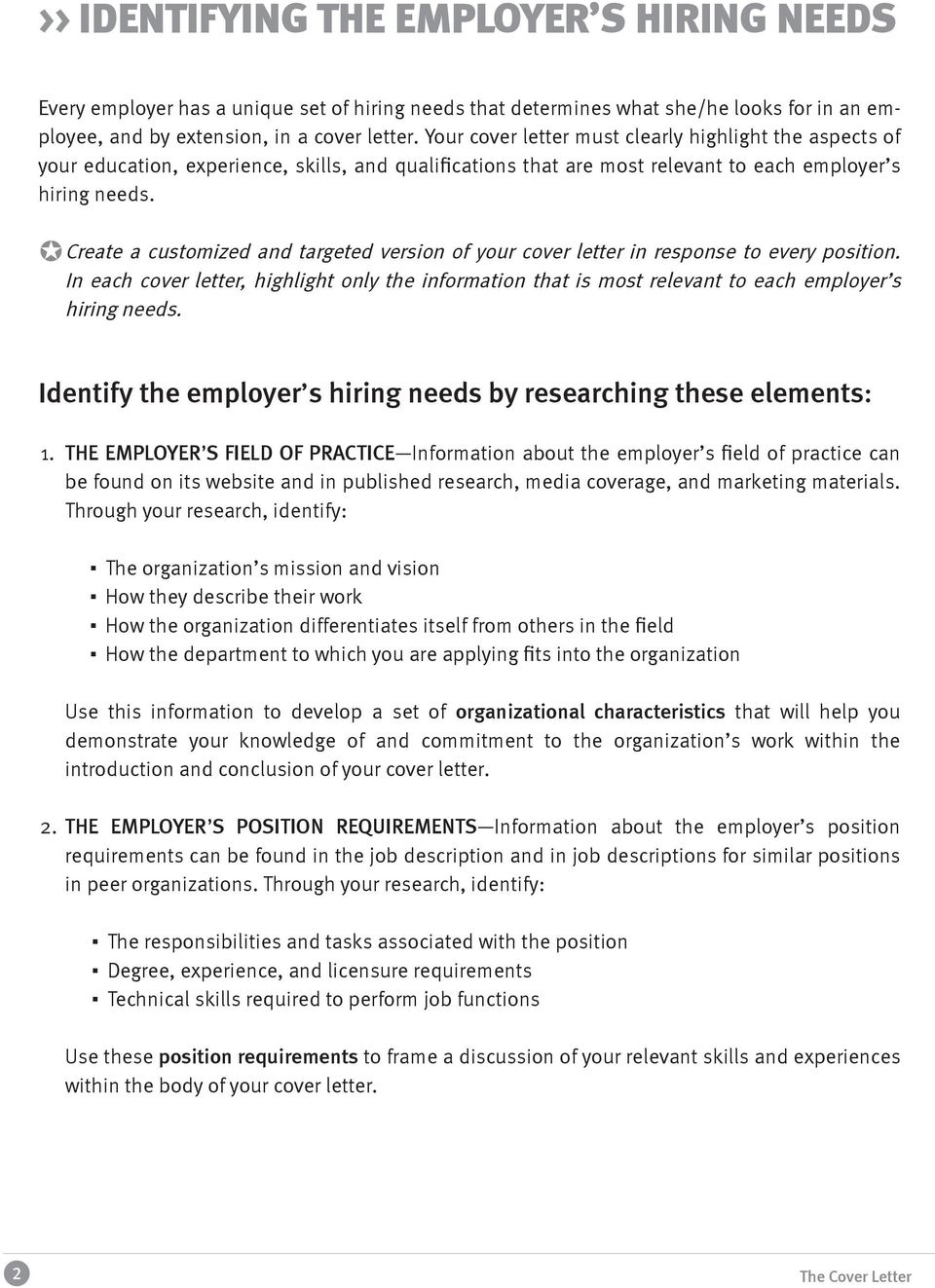 NYUWagner THE COVER LETTER OFFICE OF CAREER SERVICES - PDF