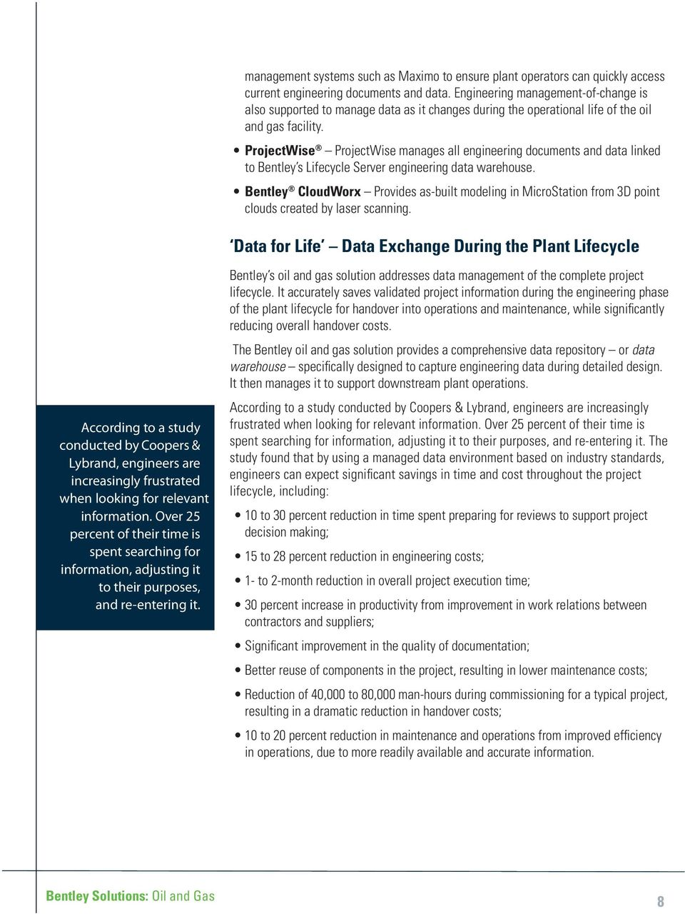 Bentley Solutions: Oil & Gas A Bentley White Paper - PDF