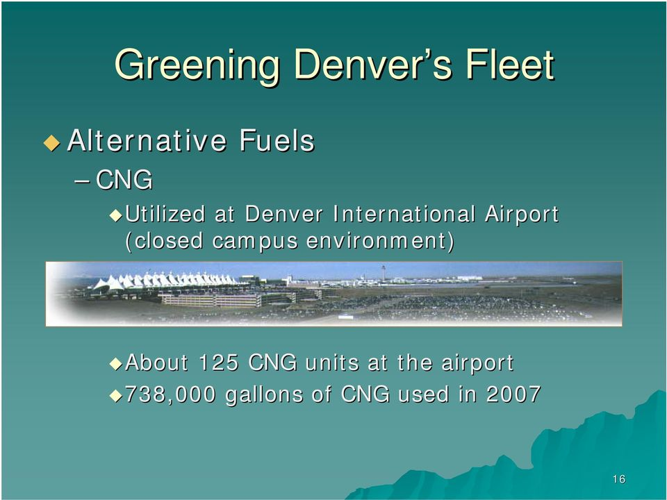 environment) About 125 CNG units at the