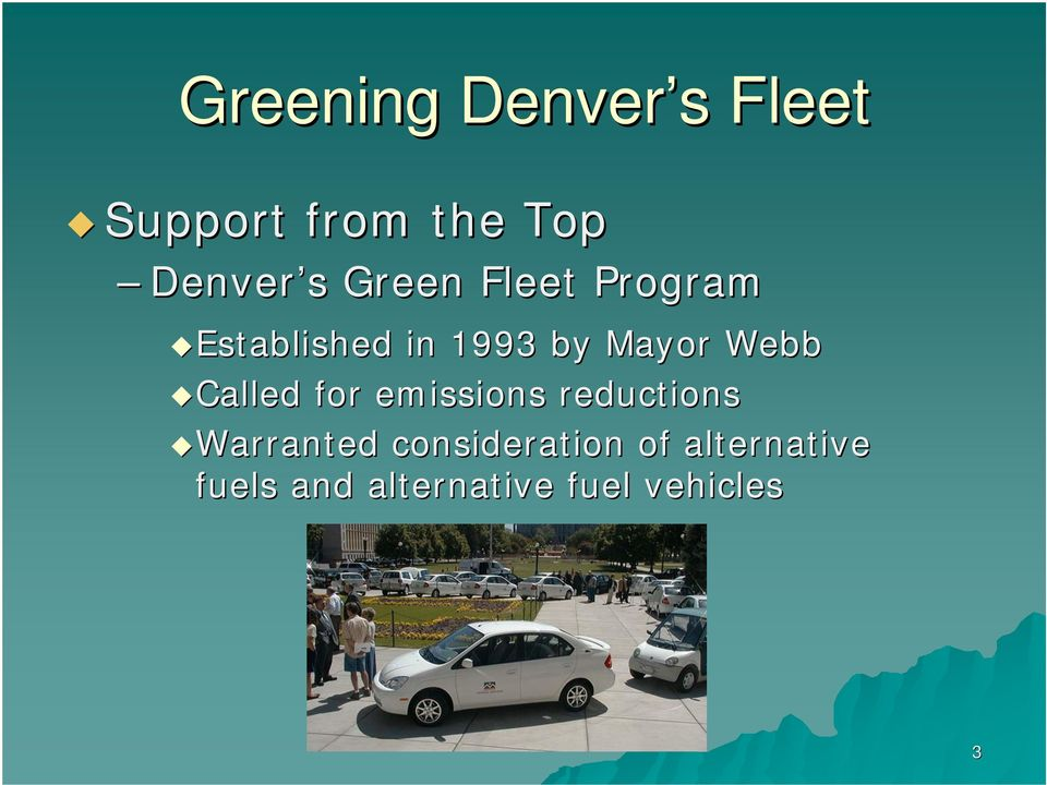 for emissions reductions Warranted consideration