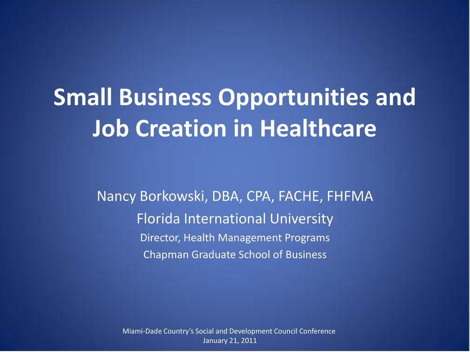 Florida International University Director, Health
