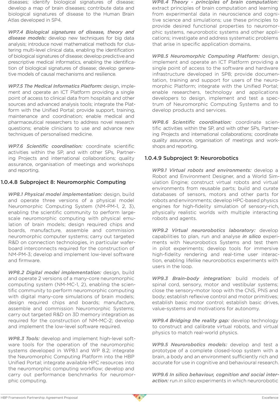 PROPOSAL HUMAN BRAIN PROJECT FRAMEWORK PARTNERSHIP AGREEMENT - PDF