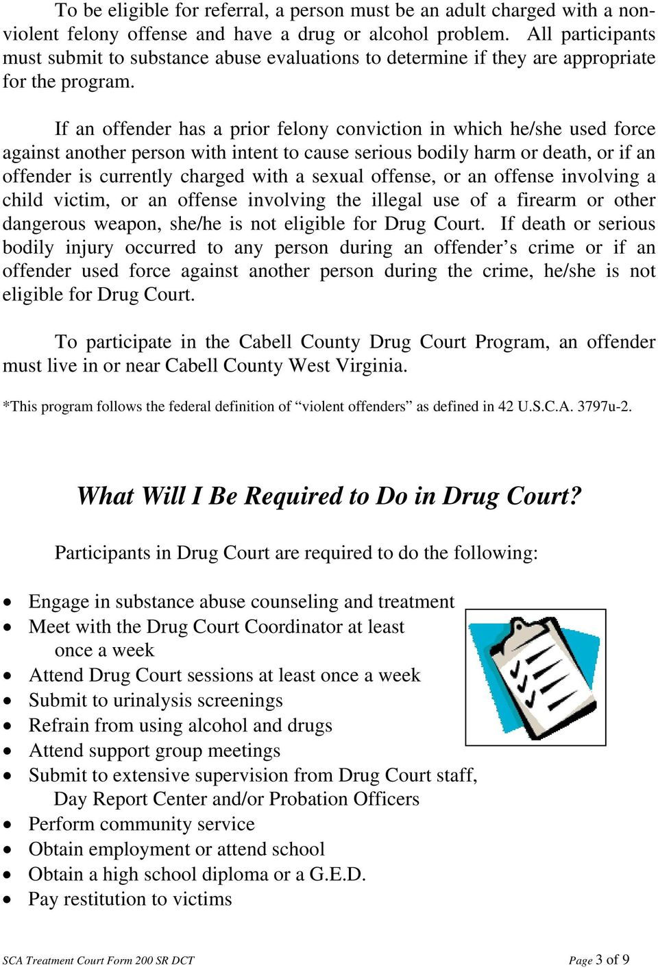 Cabell County Drug Court - PDF