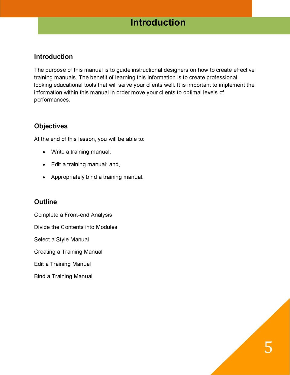 how to create effective training manuals mary l lanigan ph d pdf