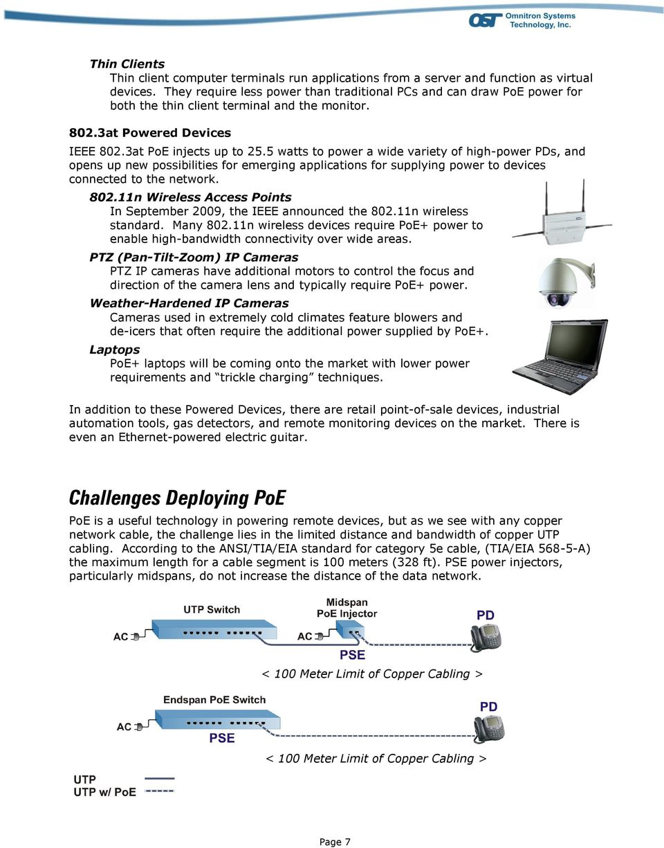 Poweroverethernet Poe On Industrialbased Networking Fig 2 Integrating Power Over Ethernet And Fiber Networks Pdf 5 Watts To A Wide Variety Of High Pds Opens Up