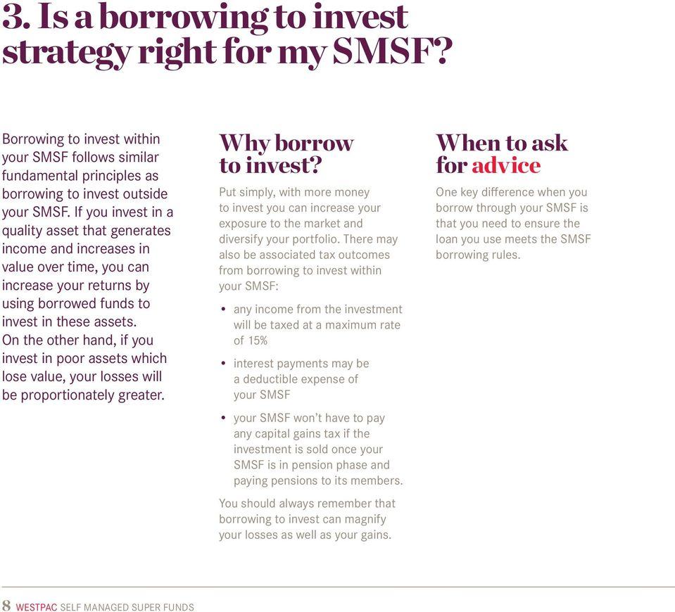 On the other hand, if you invest in poor assets which lose value, your losses will be proportionately greater. Why borrow to invest?