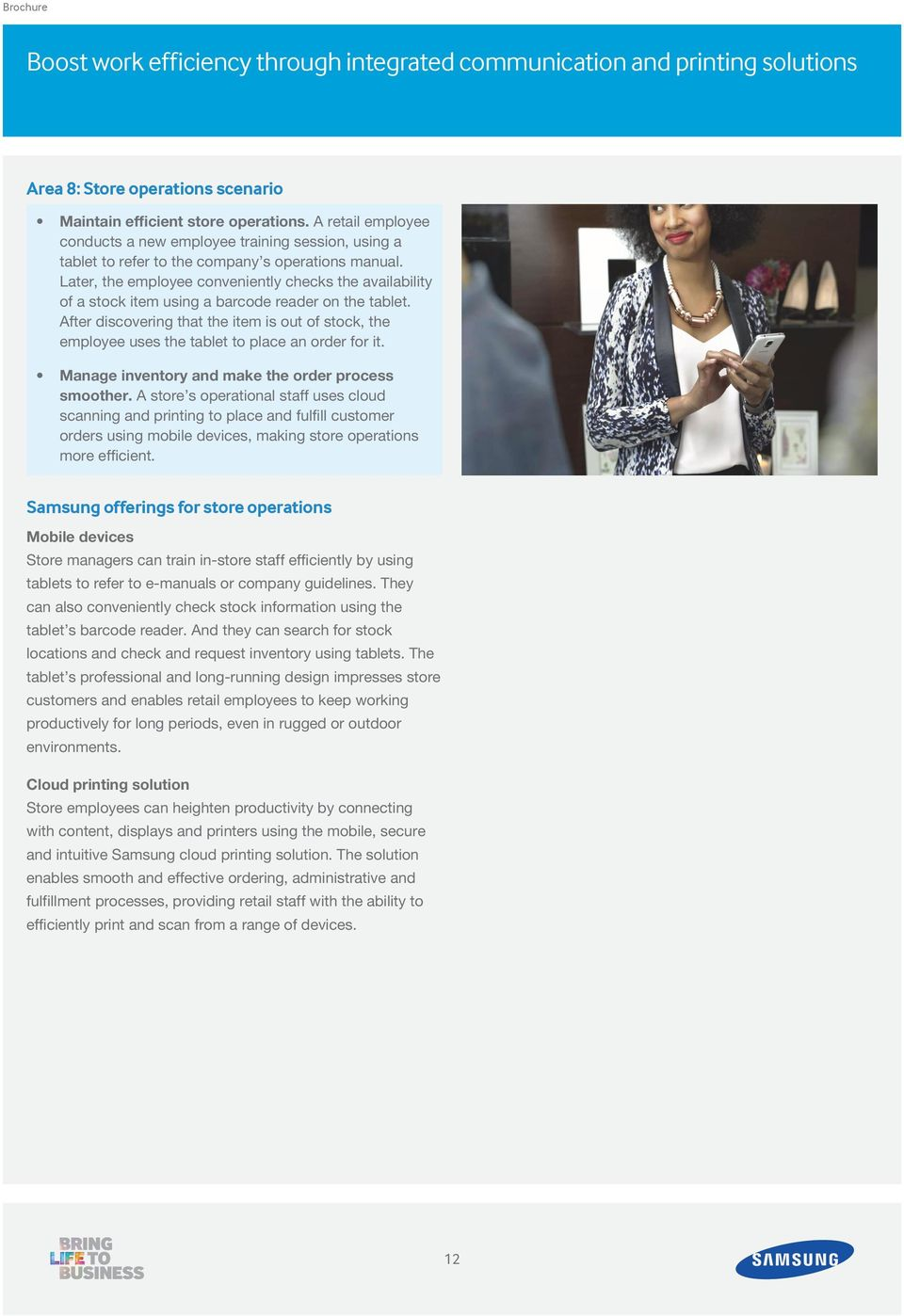 Brochure  Samsung in Retail  Personalized and efficient