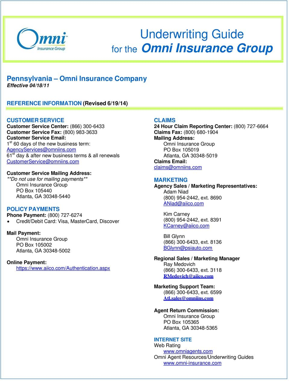com 61 st day & after new business terms & all renewals  [emailprotected]