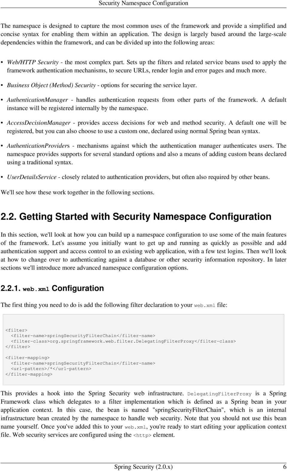 Spring Security  Reference Documentation  2 0 x  Copyright - PDF