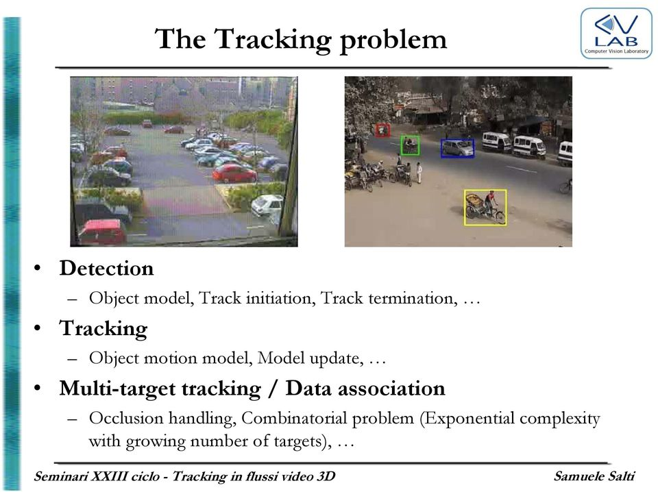 Multi-target tracking / Data association Occlusion handling,