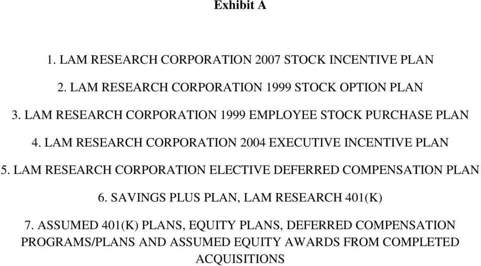 LAM RESEARCH CORPORATION 2004 EXECUTIVE INCENTIVE PLAN 5.