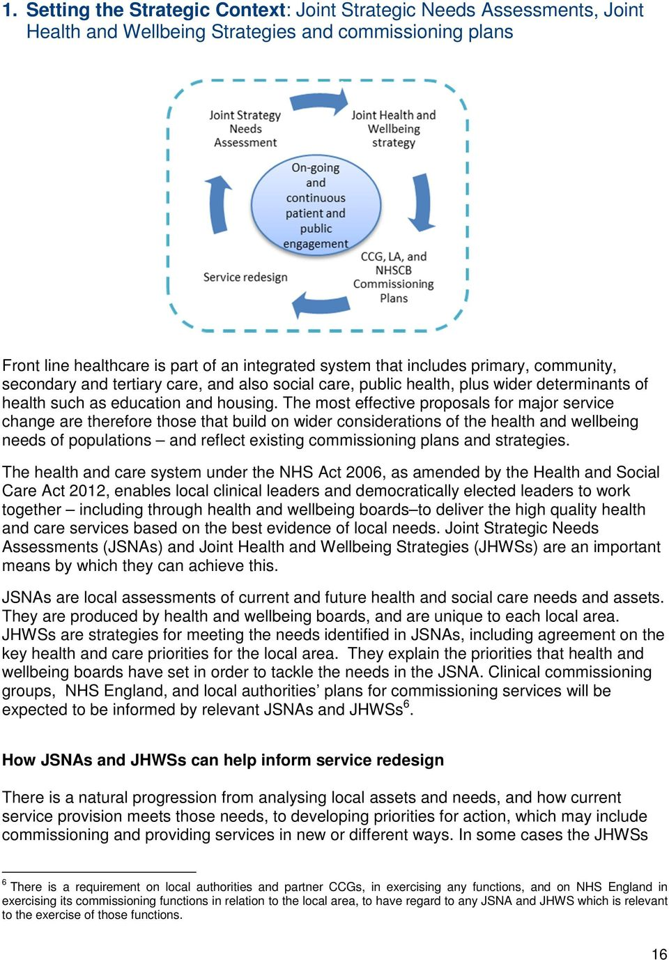 The most effective proposals for major service change are therefore those that build on wider considerations of the health and wellbeing needs of populations and reflect existing commissioning plans