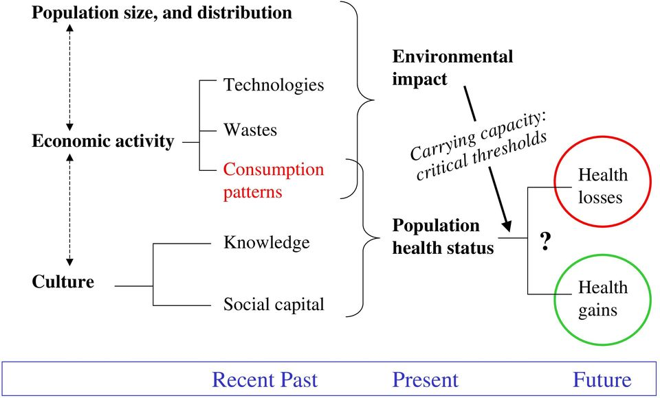 capacity: critical thresholds Health losses Knowledge Population
