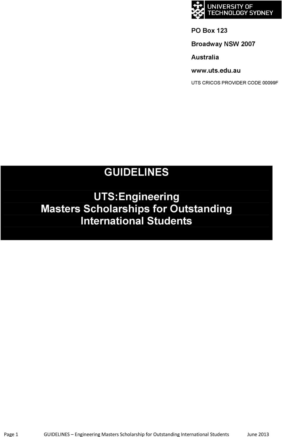 Masters Scholarships for Outstanding International Students Page 1